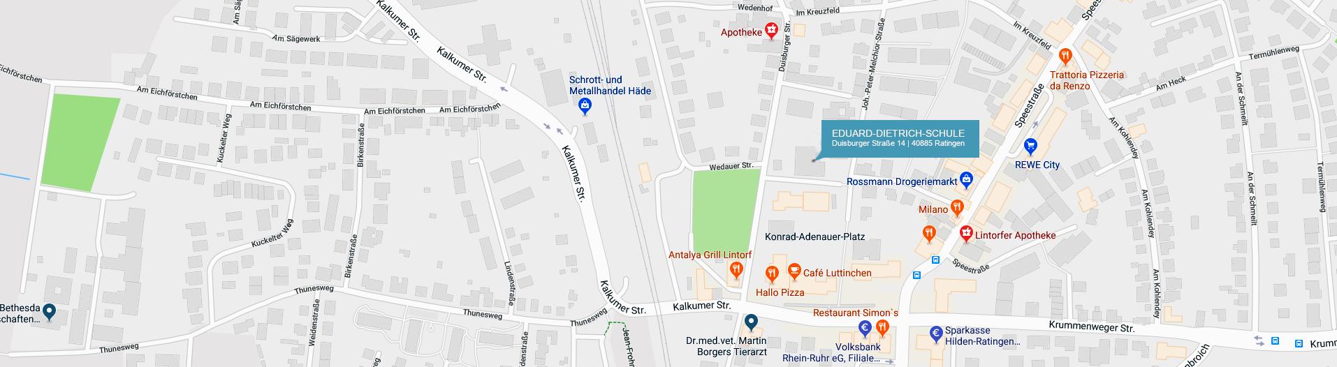 Eduard-Dietrich-Schule, Duisburger Straße 14, 40885 Ratingen
